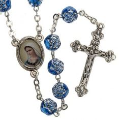 Rosario Medjugorje rositas pvc azul metal | venta online en HOLYART