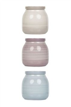 Set Of 3 Spinwash Storage Jars