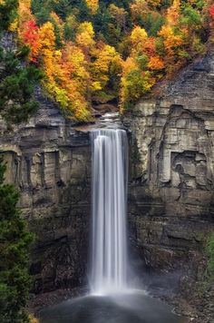 We're inspired by the natural beauty right in our backyard. Taughannock Falls State Park - This namesake waterfall is one of the outstanding natural attractions of the Northeast. Beautiful Waterfalls, Beautiful Landscapes, Beautiful World, Beautiful Places, Amazing Places, Wonderful Places, Beautiful Gardens, Photos Voyages, Natural Wonders