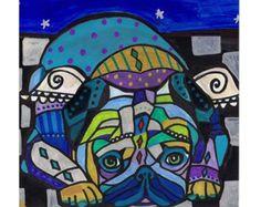50% Off CAT art Tile Ceramic Coaster Mexican by HeatherGallerArt