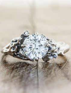 Eco friendly engagement ring by Ken & Dana Design - Devi. Yep I saw one ring in my feed and said hey, that looks like a twig. *checks out website *pins half of them