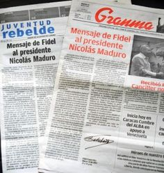 Former President Fidel Castro is quoted on the front pages of Cuban newspapers Juventud Rebelde and Granma March 16. (CNS photo/Ernesto Mastrascusa, EPA) See CUBA-GRANMA-EDITORIAL Sept. 15, 2015.