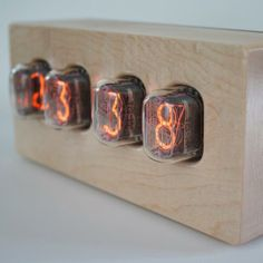 Hardwood Nixie Tube Clock By Tungsten Customs