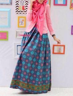 Geometric Ethnic Maxi Skirt