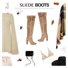 """Suede Boots"" by amberelb ❤ liked on Polyvore featuring Gianvito Rossi, Fendi, Misha Nonoo, Apiece Apart, Rodarte, Retrò, Calvin Klein Underwear, Dolce&Gabbana and Helmut Lang"