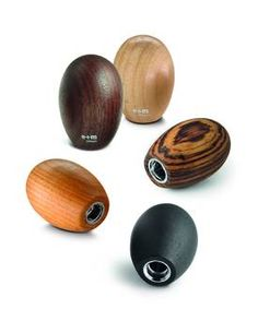 egg-shaped sharpener made of wood, for all leads with d=5,5 mm. Made of maple wood -40, zebrano natural -55 or black -20.  Height 4 cm. Maple and black are manufactured of FSC®-certified materials.