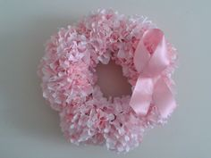 Breast Cancer Awareness Wreath by craftedeleganceva on Etsy, $75.00