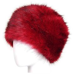 Womens Warm Faux Fox Fur Hat Russian Style Winter Cap Red ($9.09) ❤ liked on Polyvore featuring accessories, hats, red, fox fur hat, faux-fur hat, red cap, red fox fur hat and cap hats