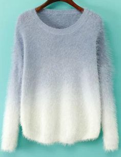 Purple Ombre Mohair Sweater