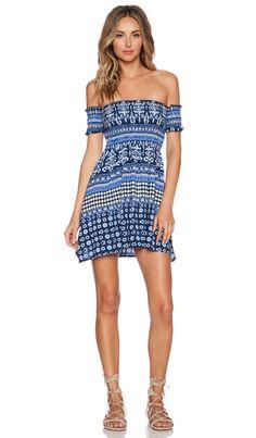 RISE OF DAWN Far Away Mini Dress in Blue | REVOLVE