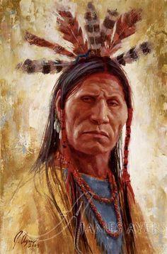 Hardened Warrior (Lakota), James Ayers original painting, 2009 | Flickr - Photo Sharing!