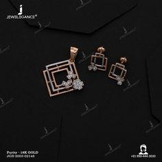 Jewelry Design Earrings, Gold Earrings Designs, Gold Jewellery Design, Necklace Designs, Jewlery, Hoop Earrings, Pendant Set, Diamond Pendant, Indian Bridal Jewelry Sets