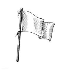 Hand drawn white flag | premium image by rawpixel.com