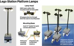 Lego Station Platform Lamps by Michael Gale