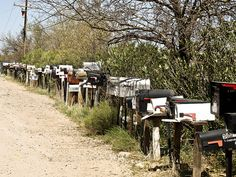 mail boxes in rural Arizona .