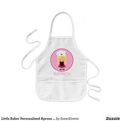b44f13c46df Shop Little Baker Personalized Aprons - Party favors created by SweetEvents.