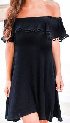 Perfect black dress for summer