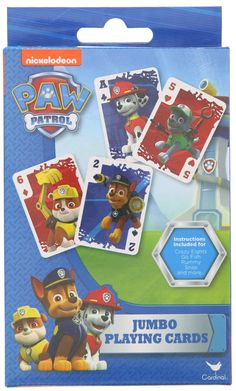 Amazon.com: Paw Patrol Jumbo Playing Cards: Toys & Games #pawpatrol