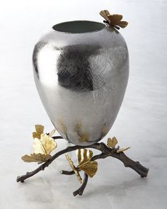 Medium Butterfly Ginkgo Vase by Michael Aram at Horchow.