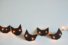 DIY: Instant Black Cat Halloween Lights: Remodelista