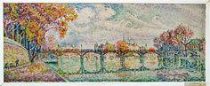 Le Pont des Arts, Paris 1928  Paul Signac