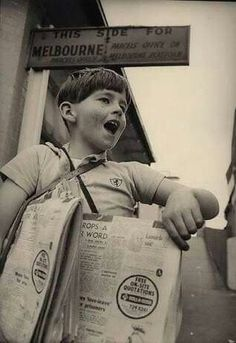 Herald newspaper seller