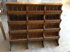 AA Antique All Original Deluxe Country Store Oak Ribbon Display ...