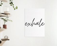 Inhale exhale A4 Poster / Poster for yogis / gift for | Etsy Poster Poster, Poster Wall, Create Your Own Poster, Black And White Posters, Inhale Exhale, Minimalist, Paper, Gifts, Etsy