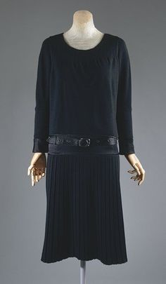 Coco Chanel's Little Black Dress c.1927.  Vintage - 75 Years Old.