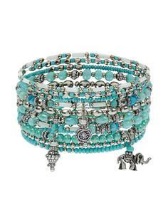 10x Elephant Stretch Bracelets Pack
