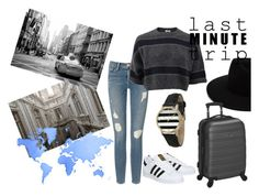 """Last minute trip"" by hola-hi ❤ liked on Polyvore featuring Frame Denim, Sophie Bille Brahe, Olivia Pratt, adidas, rag & bone, Brunello Cucinelli, Rockland Luggage, trip, vacation and LastMinute"