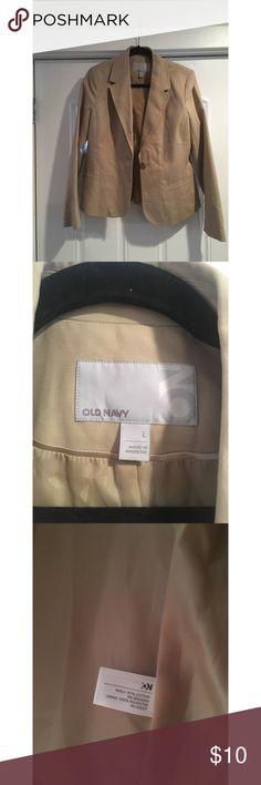Tan Blazer Tan colored blazer from Old Navy Jackets & Coats Blazers