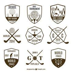 Colección de logotipos de golf vintage. Vector Gratis.