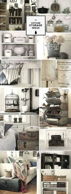 Vintage storage ideas. - #home decor ideas #home design - yourhomedecoridea...