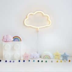Cloud night light for kids rooms Cloud Nursery Decor, Clouds Nursery, Nursery Night Light, Rainbow Nursery, Nursery Themes, Nursery Room, Girl Nursery, Cloud Bedroom, Rainbow Bedroom