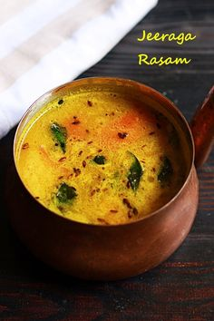 Jeera rasam or cumin rasam is a very healthy and delicious cumin flavored Indian thin soup. It healos in treating sore throat and cough also. South Indian Rasam Recipe, South Indian Food, Indian Food Recipes, Indian Vegetarian Recipes, Vegetarian Snacks, Healthy Soups, Indian Soup, Indian Dishes, Indian Meal