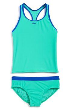Girls Nike Core Tankini Two-Piece Swimsuit