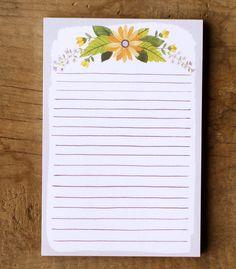 Floral Watercolor notepad par 1canoe2 sur Etsy, $7.00