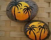 Tropical Paradise Painted Rocks