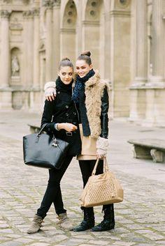 Vanessa Jackman: Paris Fashion Week AW 2012...Mackenzie and Katryn