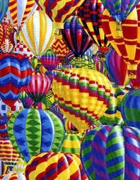 rainbow hot air balloons, awesome sight