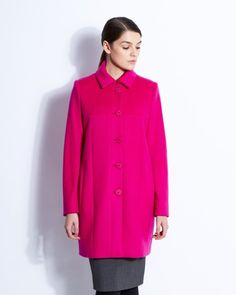 Pink Paul Costelloe Living Studio Chiara coat with statement buttons and a hint of cashmere Out Of Style, Going Out, Cashmere, Buttons, Studio, Coat, Pink, Jackets, Women