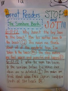 Great Readers Stop & Jot by @Ali Scott