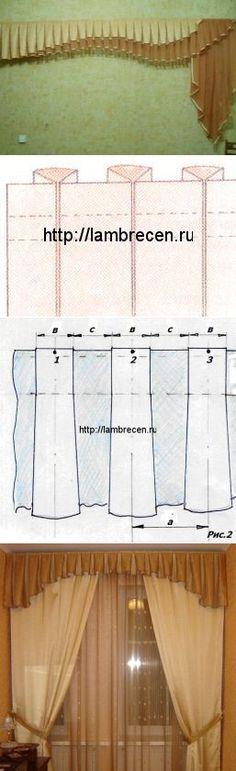 Виды складок. Бантовые складки, расчет. | ШТОРЫ, ЛАМБРЕКЕНЫ, ДОМАШНИЙ ТЕКСТИЛЬ СВОИМИ РУКАМИ