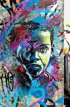 Street Art by French Artist 3d Street Art, Urban Street Art, Amazing Street Art, Street Art Graffiti, Street Artists, Urban Art, Amazing Art, Pop Art, African American Art