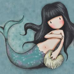 Serenity One Wise Life - Fotos Cute Images, Pretty Pictures, Illustrations, Illustration Art, Image Deco, Santoro London, Mermaid Art, Fabric Painting, Rock Art