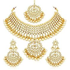 Buy Zaveri Pearls Gold Tone Traditional Temple Choker Necklace Set For Women-ZPFK8983 at Amazon.in Pearl Choker Necklace, Bridal Necklace, Necklace Set, Women's Earrings, Diamond Choker, Pendant Necklace, Indian Bridal Jewelry Sets, Wedding Jewelry, Kundan Jewellery Set