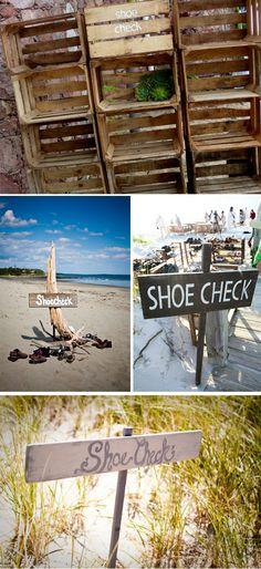 more shoe check ideas for a beach wedding