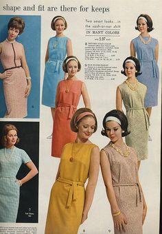 Spiegel 1963 sash-or-not shift dresses | Flickr - Photo Sharing!