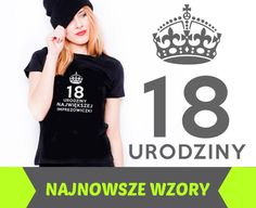 koszulka czarna damska T-shirt z nadrukiem WZORY M